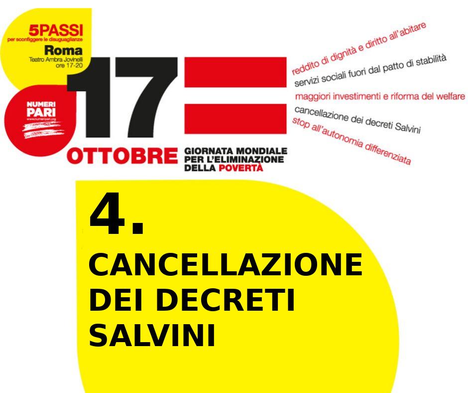 cancellazione dei decreti Salvini