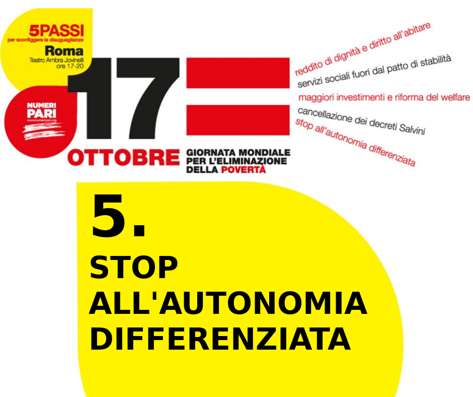 stop all'autonomia differenziata